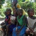 GUINEA,Kassa - Village kids