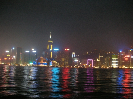 Hong Kong by night.