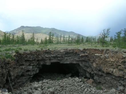 Lava tubes of Khorgo volcano