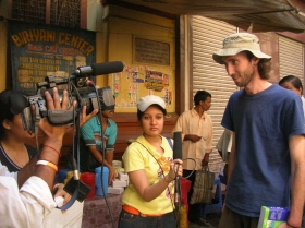 Ammon being interviewed,Kolkata