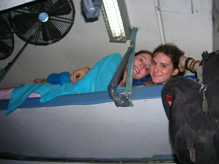 Sharing a train bed