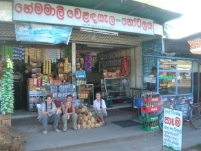 Eating lunch - Polonnaruwa