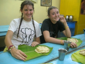 Lunch on banana leaves - Trivandrum