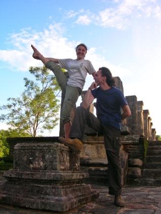 Savannah and Ammon - Polonnaruwa ruins