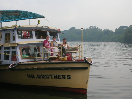 Cruising up the Backwaters