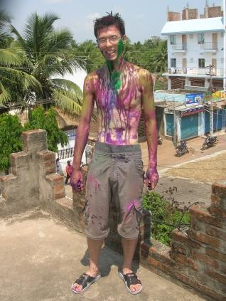 Holi festival - Puri