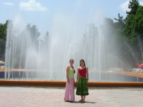 Opera house fountain, Dushanbe