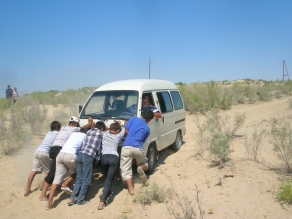 Stuck in the sand Moynaq