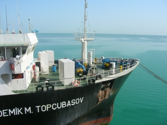 Caspian Sea ship