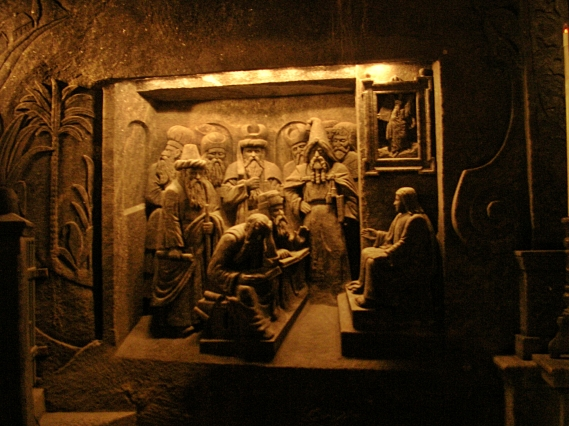 Salt mine carvings