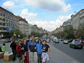 Prague with host Michael