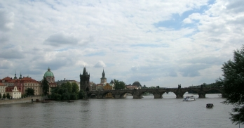 The Charles Bridge was started in 1357 to replace the old Judith Bridge built 1158–1172. The Charles bridge was the only connection between the old town and the castle.