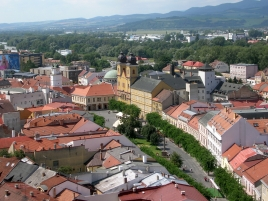 Trencin view from the castle