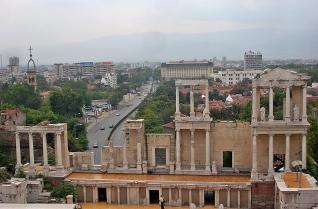 Roman ruins in Plovdiv, Bulgaria