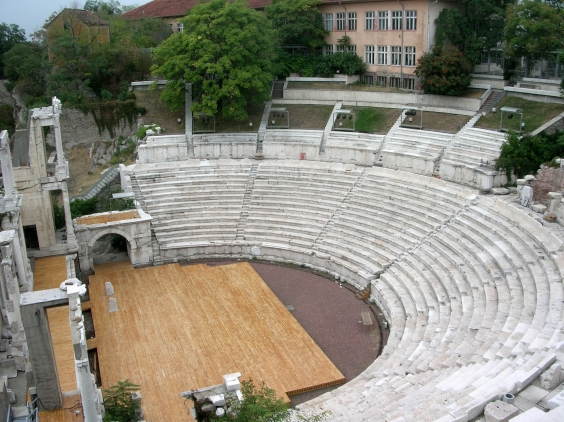 An ancient theatre in Plovdiv, Bulgaria