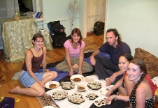 Home made sushi at our hosts - Chisinau