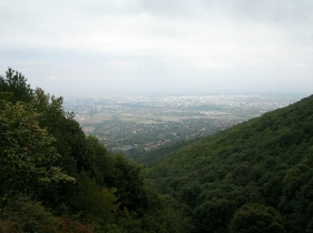View from the top of Sofia, Bulgaria