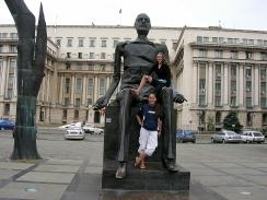 broken man sculpture, Revolution Square, Bucharest,