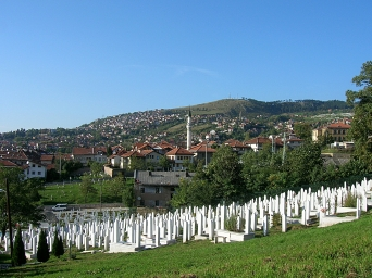 Grave yard from recent war, Bosnia