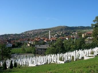 Grave yard from recent war, Bosnia