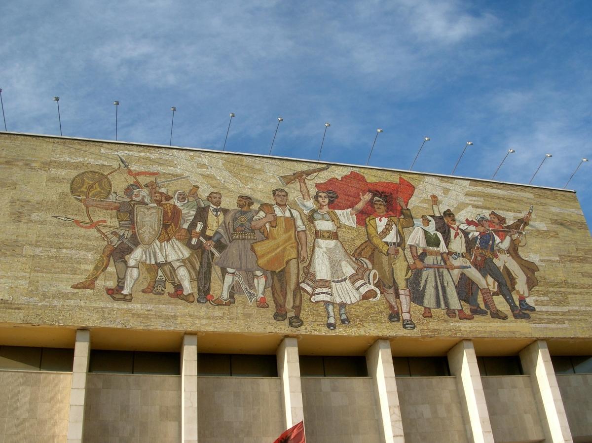 Mosaic on the National Historical Museum - Tirana, Albania