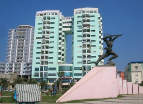 Monument of Partisan in Durres, Albania