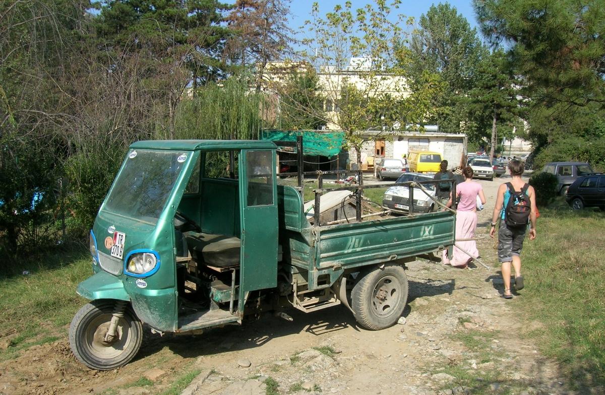 3 wheeler truck. Albania