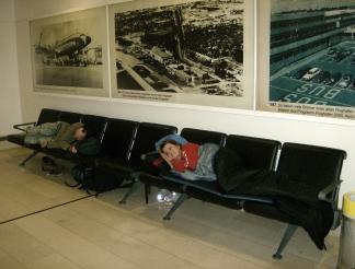 Bremen Airport sleeping