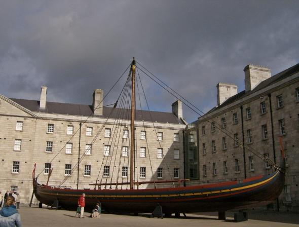 Replica of a Norse ship