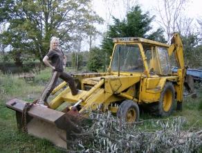 Bre playing at farming