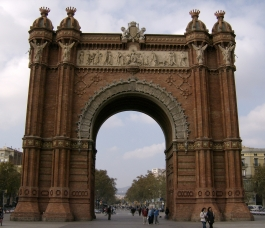 The Arc de Triomf in Barcelona,