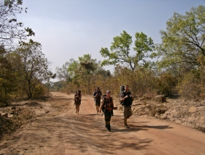 Entering the country with a 16km hike and 40C