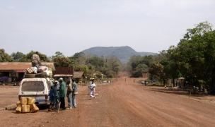 The Kenema highway, Sierra Leone