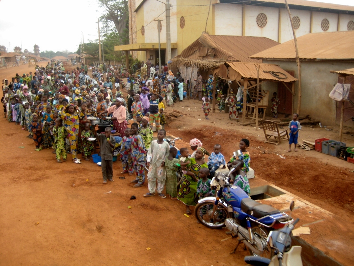 colourful clothing of Benin