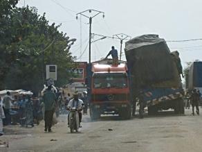 tipping truck, Benin