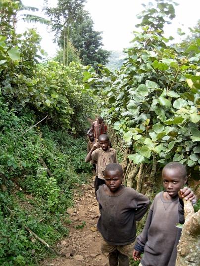 children of Lake Bunyoni, Uganda