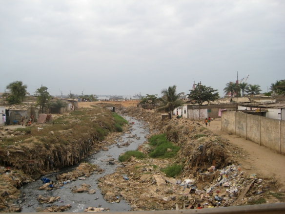 polluted river, Angola