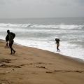 Hauling sand, Benin