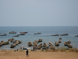 The beach at Lake Tanganyika, Burundi
