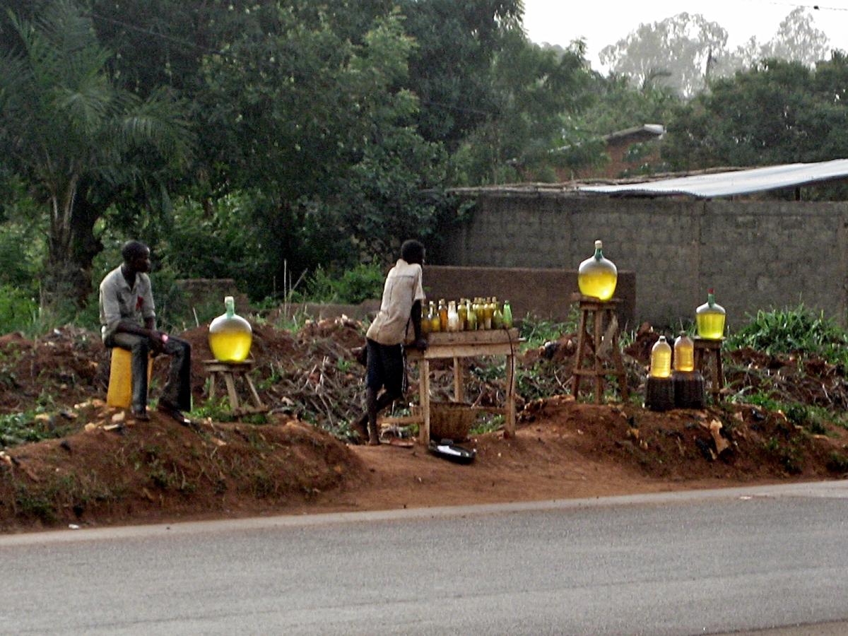 Gasoline for sale, Benin