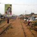 Old railway tracks. Benin