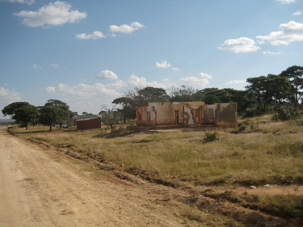 passing by small settlements - Angola