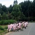 Genocide prisoners outside Butare