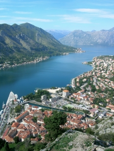 Overlooking Kotor from it's castle.