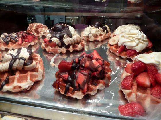 waffles in Brussels, Belgium