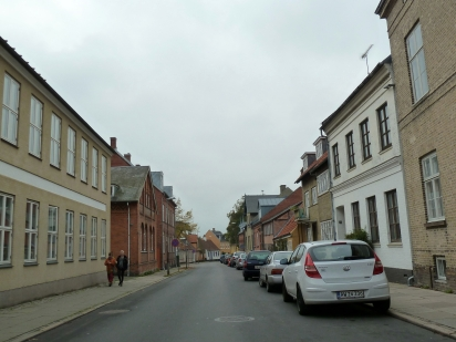 A common streetQuiet streets of Roskilde.
