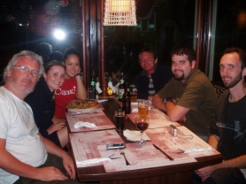 dinner with friends in Bulgaria