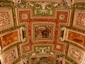 Ceiling decoration in the Gallery of Maps, Vatican Museum.