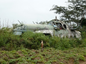 A broken helicopter ,Angola