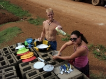 Doing dishes, Cameroon